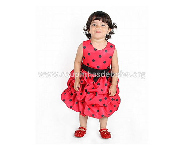 Vestido de beb vermelho