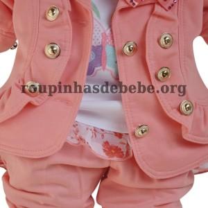 casaco rosa feminino infantil