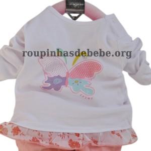 conjunto casaco feminino infantil rosa
