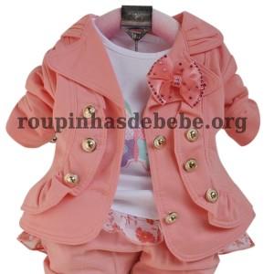 casaco infantil para meninas rosa