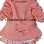 casacos infantil rosa