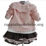 casaco infantil rosa