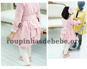 casaco infantil rosa para meninas importado