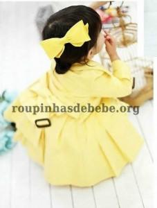 casaco amarelo importado para meninas
