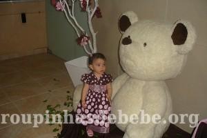 festa marrom e rosa urso Giovanna