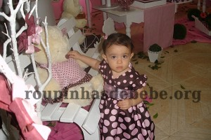 festa marrom e rosa infantil provencal