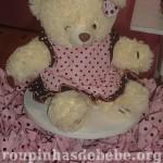 ursinho na festa marrom e rosa urso