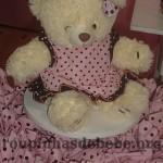 festa rosa e marrom de 1 ano com lembrancinhas