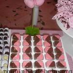docinhos na festa rosa e marrom de 1 ano