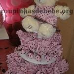 festa rosa e marrom de 1 ano com chocolate