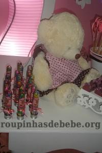 festa marrom e rosa urso balinhas