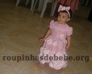 festa rosa e marrom de 1 ano Giovanna com vestido