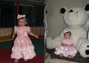 festa marrom e rosa infantil ursinho