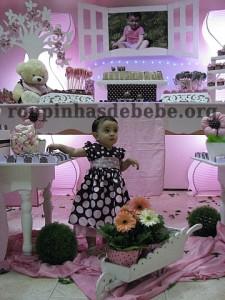 festa marrom e rosa urso e Giovanna 1 ano
