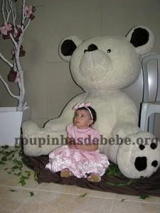 festa marrom e rosa urso grande