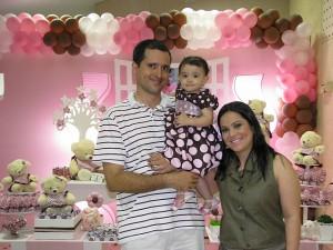 Mae e Pai festa rosa e marrom 1 ano