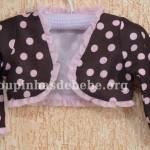 bolero infantil marrom e rosa