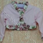 bolero infantil rosa floral
