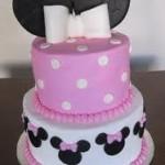 bolo festa da minnie rosa