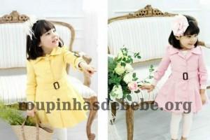 casacos infantil rosa e amarelo