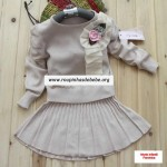 conjuntos de frio feminino blusa bege