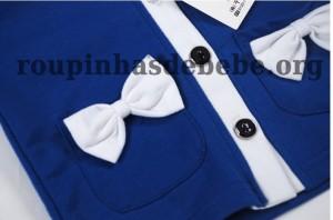 conjuntos de frio feminino detalhe azul
