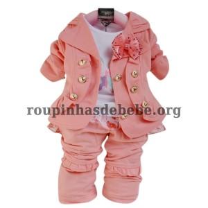 conjuntos de frio feminino rosa bebe