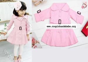 conjuntos de frio feminino rosa importado bebe
