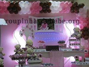 festa marrom e rosa provencal da Giovanna