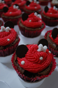 festa minnie rosa Cupcakes