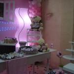 festa rosa e marrom infantil 1 ano
