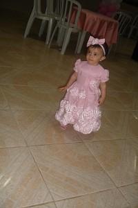 festa rosa e marrom infantil Giovanna e vestido flores