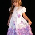 festa rosa e marrom infantil branco e lilas