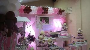 festa rosa e marrom infantil da Giovanna