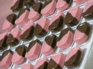 festa rosa e marrom infantil doces da festa