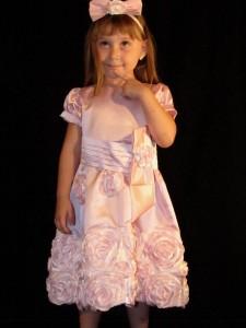 festa rosa e marrom infantil flores aplicadas