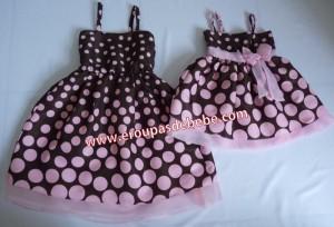 festa rosa e marrom infantil moda mae e filha