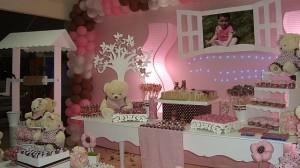 festa rosa e marrom infantil provencal