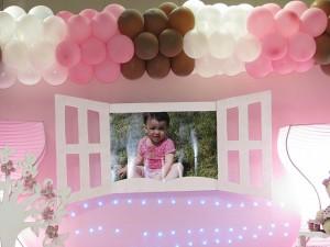 festa rosa e marrom infantil quadro Giovanna