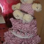 festa rosa e marrom infantil ursinho