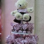 festa rosa e marrom infantil ursinhos e lembrancinha