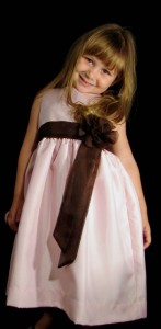 festa rosa e marrom infantil vestido rosa