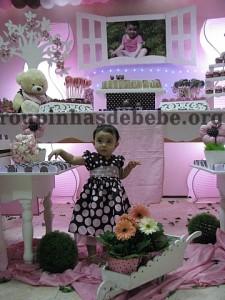 festa marrom e rosa urso flores e provencal