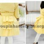 moda inverno infantil casaco amarelo