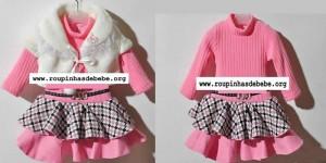casacos infantil conjunto para meninas