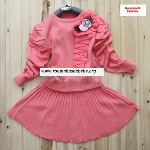 casacos infantil rosa conjuntinho
