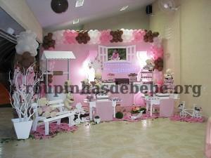 salao da festa marrom e rosa provencal