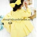 sobretudo infantil amarelo feminino