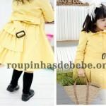 sobretudo infantil amarelo para meninas