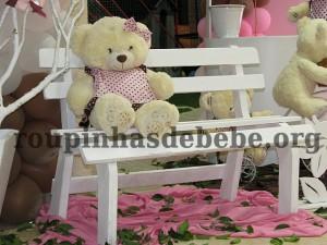 ursinhos na festa marrom e rosa provencal